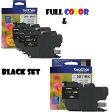 Brother LC3011 (C/M/Y) & Black (BK) Combo Pack Ink Cartridge (3x200 Yield)
