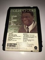 Nat King Cole Love Is Here To Stay 8 Track Stereo Cassette Tape Capitol Records