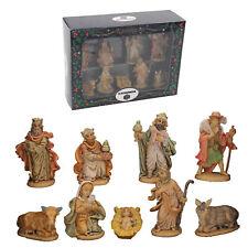 Christmas Nativity Figurine Set Traditional Scene 9 Piece Rubberised Set 89340