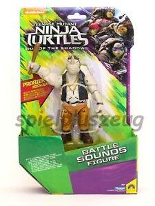 Teenage Mutant Ninja Turtles - Battle Sounds Figur Rocksteady Geräusche NEU