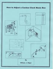 How to Adjust a Cuckoo Clock Music Box - *How to PDF*-
