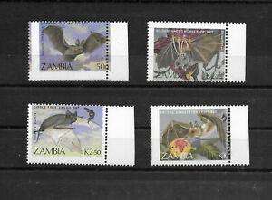 Zambia,1989,Bats,error perforation,MNH