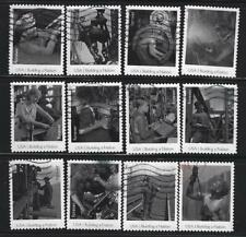 US Sc# 4801a-l BUILDING A NATION AMERICA SET of 12 USED OFF PAPER SOUND