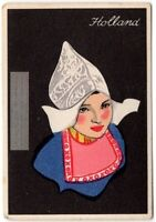 Dutch Holland Young Woman Traditional Dress Clothing  1920s Trade Ad Card