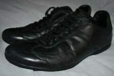 ZARA Black Leather Lace Up Trainers Shoes Size UK 8, EUR 42, US 9
