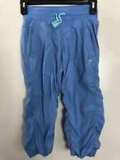 Ivivva Girls Size 10 Blue Dance Studio Cropped Pants Yoga Athleisure Athletic