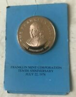1974 Franklin Mint 10th Anniversary Bronze Medal Proof