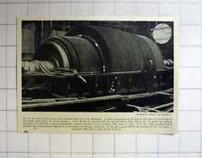 1920 One Rotor Of Giant Steam Turbine Which Drives Aquitania