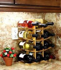 Wood Wine Rack Bottle Holder Wall Cellar Storage Bar Decor Liquor Display Shelf