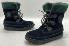 Timberland Womens Black Suede Lined Lace Up Winter Boots Size 8.5M