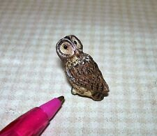 Miniature Resin Pell's Fishing Owl: DOLLHOUSE Miniatures 1/12 Bird Birds