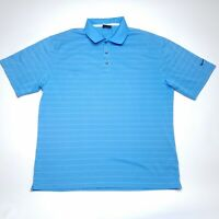 Nike Fit Dry Golf Blue Striped Short Sleeve Polo Shirt Mens Size Large L