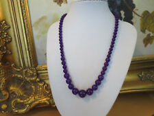 STUNNING RAW AMETHYST NECKLACE, GRADUATED, HIGHLY POLISHED, 46CM, 14MM - 6MM