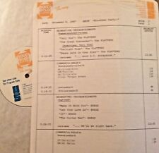RADIO SHOW: B'DAYS 12/9/87 SETS w/PLATTERS,DIONNE WARWICK; CONNIE FRANCIS MEDLEY
