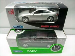 Welly 1:60 Scale Series / BMW 645 Ci E63 Coupe - Model Cars x2