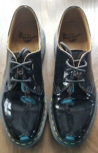 Dr Doc Martens 1461 Shiny Black Patent Oxford Tie Shoes Womens SIze 9 UK7 EU41