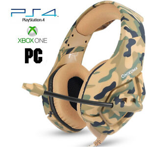 Pro Gamer PS4 Headset for PlayStation 4 Xbox One & PC Computer Camo Headphones