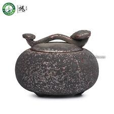 Main feu de bois céramique Jar Thé de conteneur sucre Café Bidon 500ml Caddy