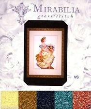 Mirabilia Counted Cross Stitch Chart with Bead Pack ~ SPRING QUEEN #34 Sale