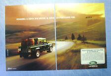 BELLEU999-PUBBLICITA'/ADVERTISING-1999- LAND ROVER DEFENDER 110 CREW CAB.