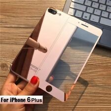 Front + Back Rose Gold Mirror Tempered Glass Screen Protector for iPhone 6 Plus