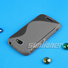 Gray soft Silicone Gel Rubber Case Skin Cover for HTC One S / Z520e