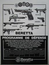 9/1986 PUB BERETTA PM 12S WEAPON AUTOMATIC RIFLE PISTOLET AUTOMATIQUE 92F AD