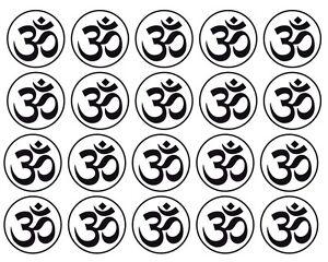 """AUM OM Meditation Buddha Yoga Spiritual Car Decal Window Sticker  **2"""" - 20 PACK"""