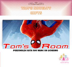 Spiderman Marvel children's kids personalised door plaque perfect gift