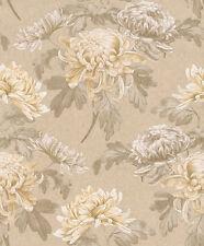 Rasch Papel pintado Comtesse 225500 Textil Flores Grueso y suave de no tejido