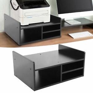 2 Ebenen Drucker Regal mit 3 Ablagen Druckertisch Druckerständer Druckerhalter