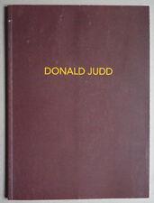 Galerie Lelong, Paris: Donald Judd - Catalogue d'exposition - ISBN 9782855871967