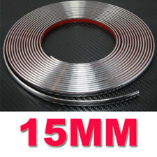 Self Adhesive Car Styling Moulding Strip Chrome Trim Size 15mm x 15 Meter
