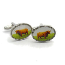 Highland Cow Cufflinks by Onyx-Art New Gift Boxed CK1034