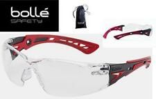 Bolle Safety Rush+ 41080 Red Black Frame With Clear Anti Fog Lens & Carry Case