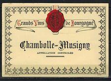 Etiquette de Vin - Bourgogne - Chambolle-Musigny- New - Never Stuck - Réf.n°99