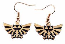Legend of Zelda Tri-Force Goldtone French Wire Earrings
