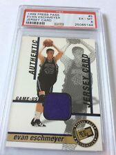 1999 Press Pass Jersey Card Evan Eschmeyer #5 PSA 6