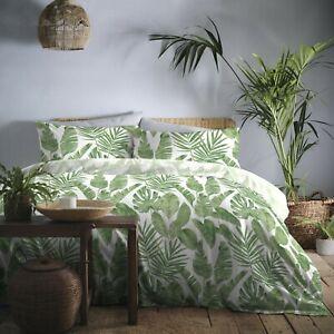 Tahiti Large Palm Leaf Design In Green Duvet Cover Sets,Bedding Sets, FREE P&P