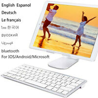 Universal Mini Slim Wireless Keyboard bluetooth 3.0 For Laptop IOS / Android