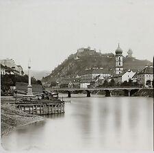 La Muhr et Schlossberg Gratz Graz Autriche Photo parLachenal & Favre ca 1865