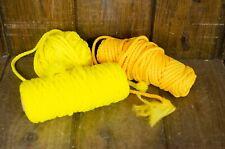 Vintage Macramé Cord Twisted Yellow macrame cord