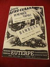 Partitura Serie Afro Recuerde Cubana Napoli Gurrieri Bambusa Romano