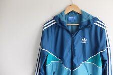 Adidas Originals Windbreaker jacket | M | Blue/turquoise Trefoil shell rain