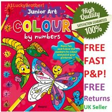 Butterfly Colouring Book Colour By Numbers Kids Art Gift Cartoons Drawing Spring