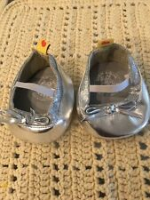 Build a Bear Silver Sparkle Flats/Shoes - euc