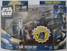 "JESSE & BARC SPEEDER BIKE Star Wars CLONE WARS Deluxe 3.75"" 2010 FIGURE VEHICLE"