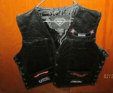 Brand New, Diamond-Plate Buffalo LEATHER Vest, 2 X, With Sticker, Bikers