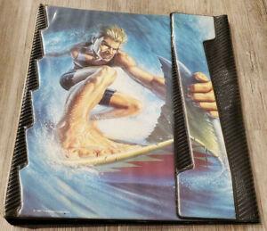 1991 Vintage Mead Binder Trapper Keeper Surfer with Shark Fin Rare