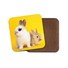 Cute Baby Bunnies Coaster - Bunny Rabbit Cute Pet Animal Kids Cool Gift #14590